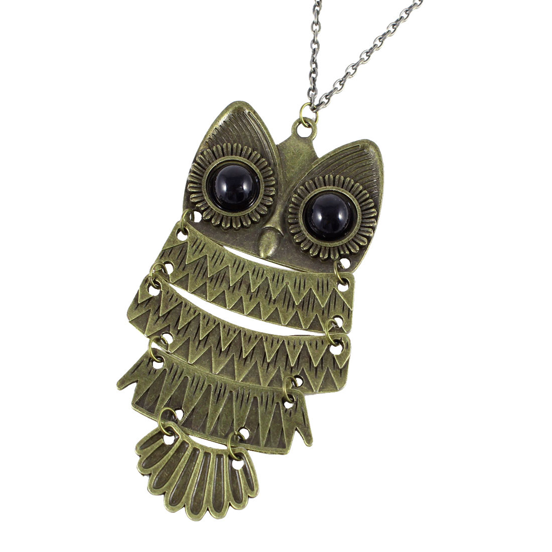 Bronze Tone Retro Owl Pendant Necklace for Ladies