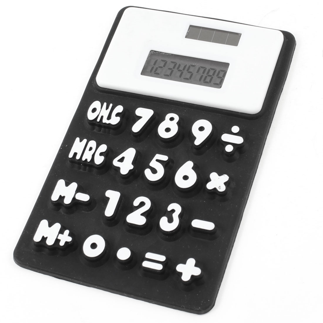 Refrigerator Arabic Number Keyboard 8 Digit Soft Silicone Calculator Black White