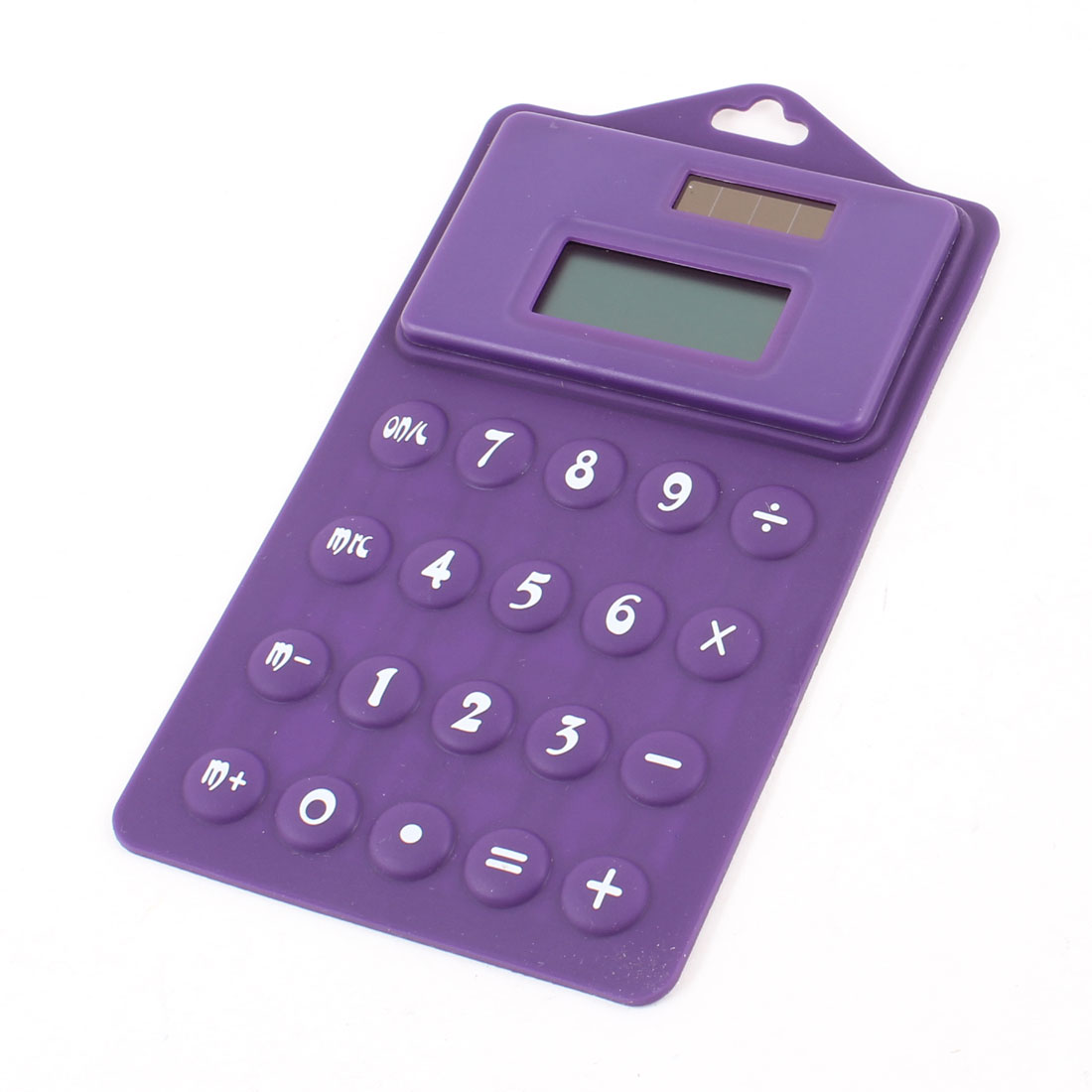 Home Office Rectangle Shape Hanging Solar Power Folding Calculator Purple White