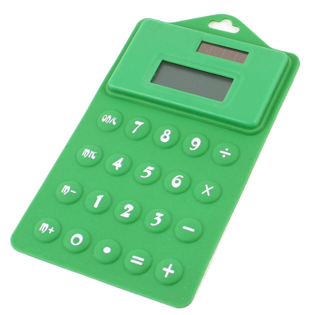 School Student Arabic Number Hanging Solar Power Foldable Calculator Green White