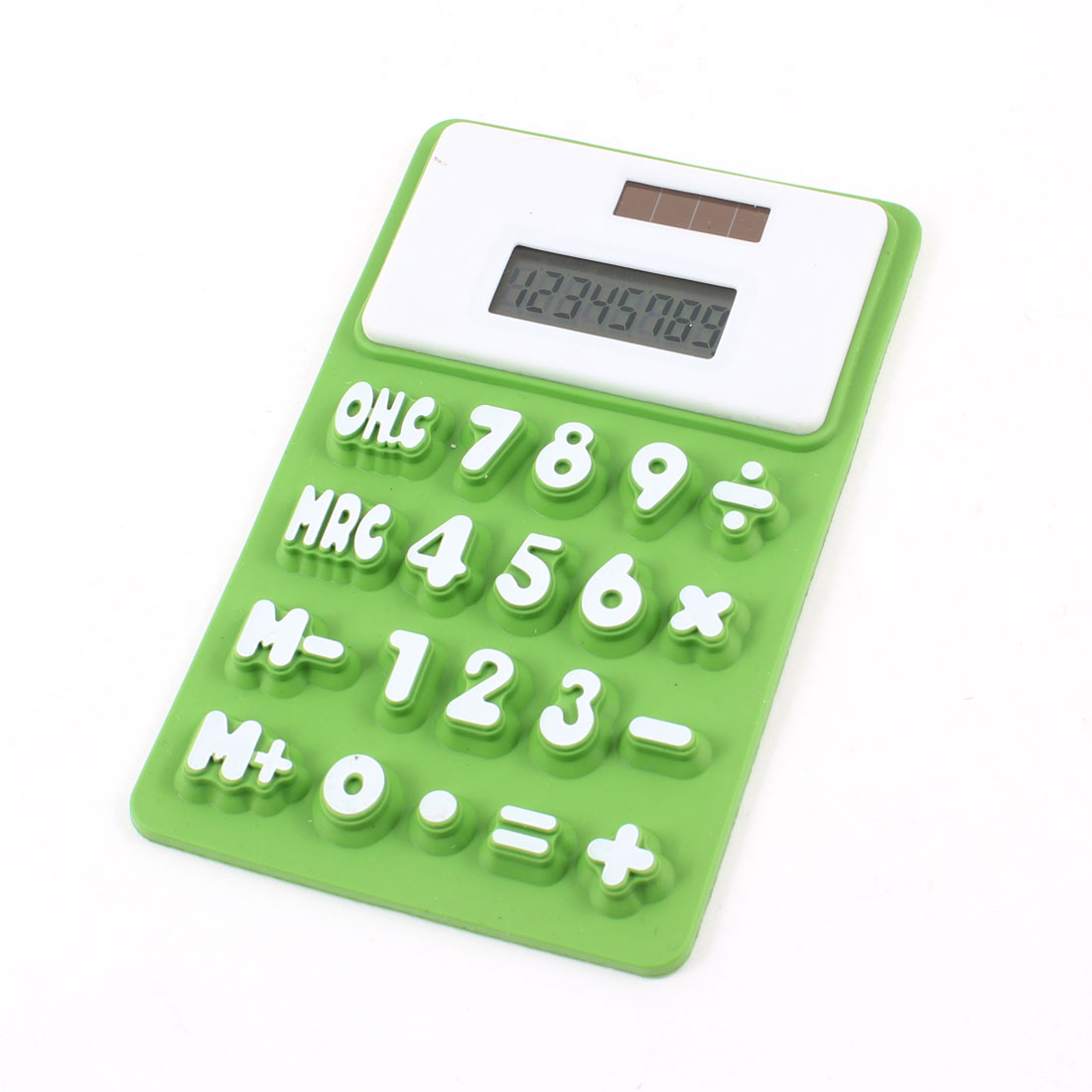 Household Fridge Magnetic Sticker Silicone Electronic Calculator Green White