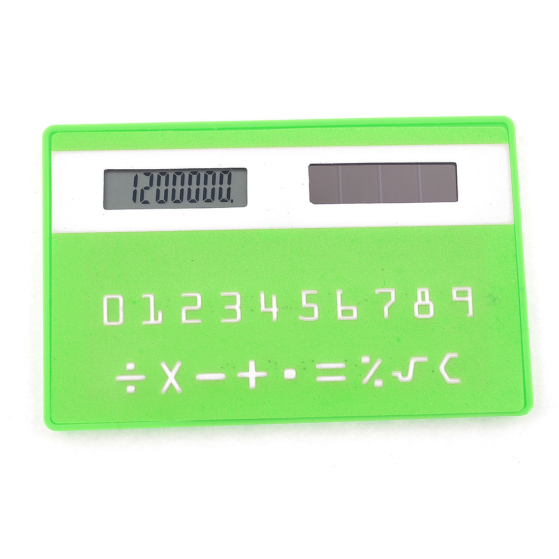 Home Office 8.6cm x 5.4cm Rectangle Shape 8 Digits LCD Pocket Calculator Green