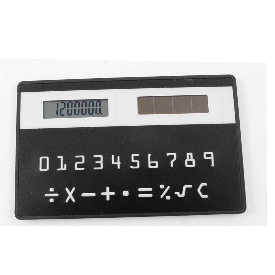 Portable Card Designed Black Mini Solar Power Pocket Calculator Calculating Tool