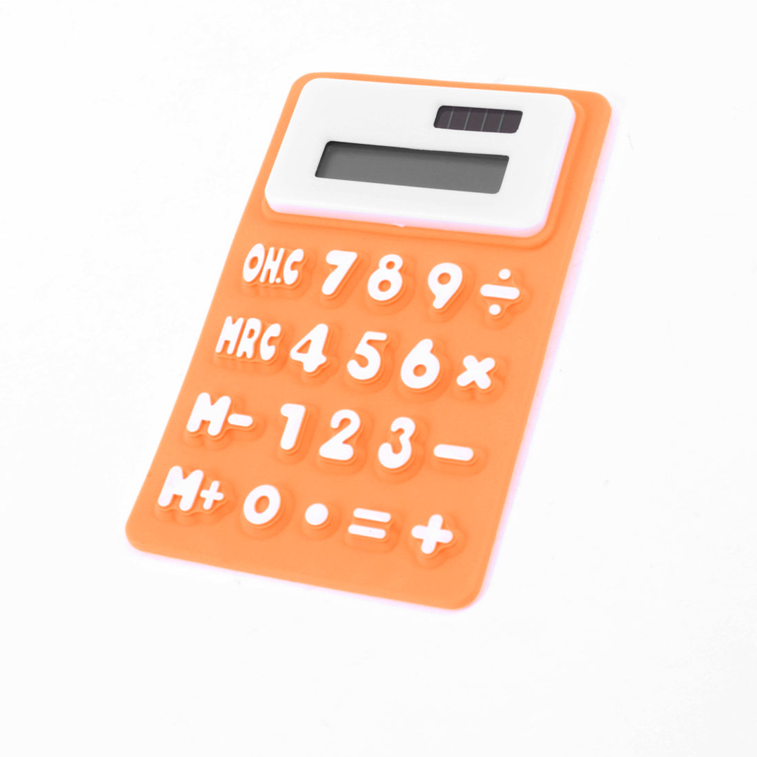 Home Office Fridge Magnetic Sticker Mini Silicone Calculator Orange White