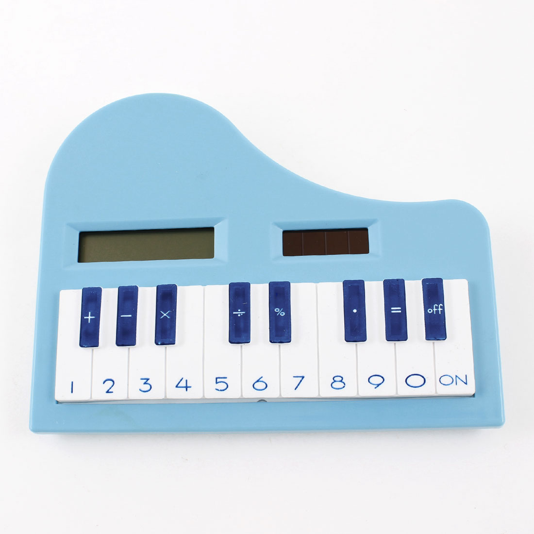 Children Soft Rubber Keypad 8 Digits LCD Piano Electronic Calculator White Blue