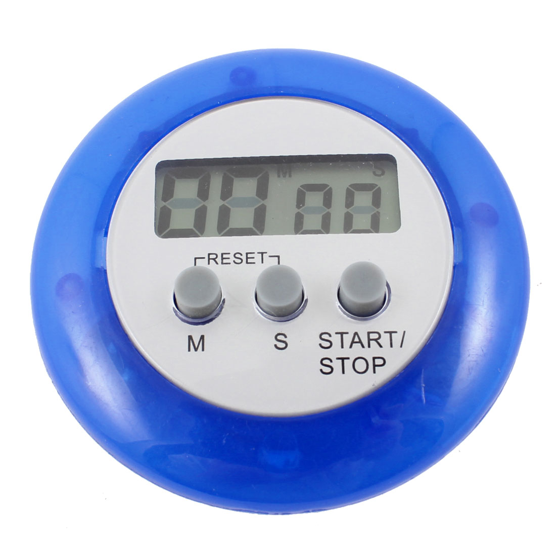 Cooking Magnetic Spring Clip Digital Electronic Count Down up Alarm Timer Blue