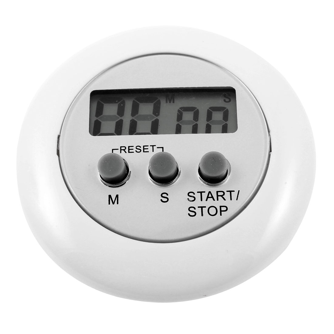 Sport Match Magnetic Design Spring Clip Electronic Count Down up Timer White