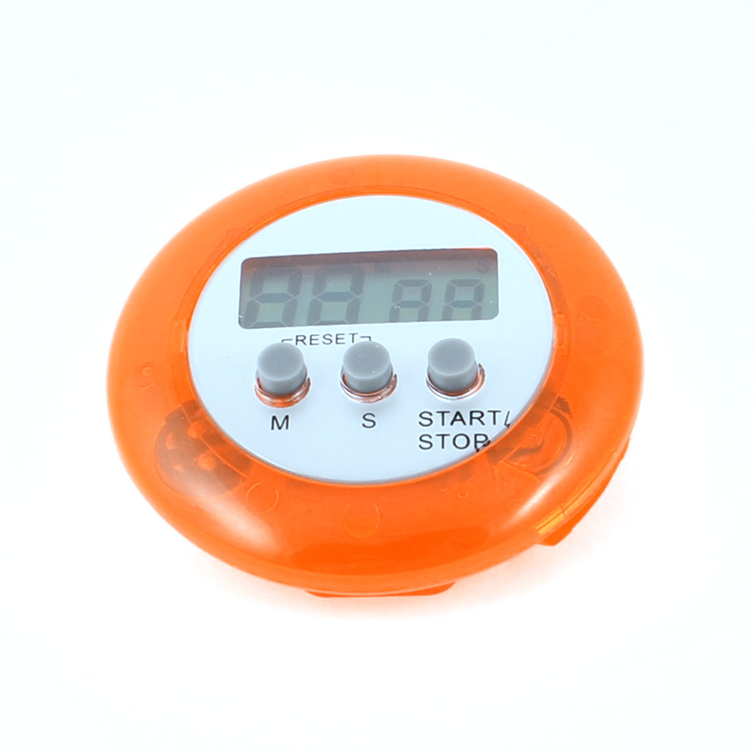 Cooking Magnetic Spring Clip Digital Battery Powered Count Down up Timer Orange