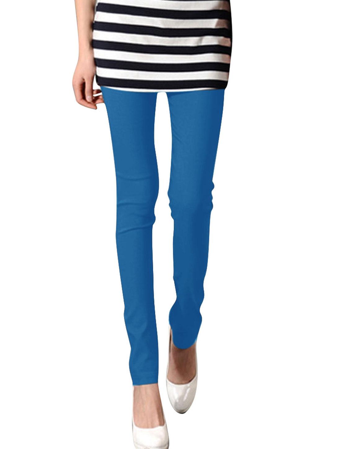 Ladies XS Blue Stretchy Waist Skinny Fit Style Fashion Summer Legging