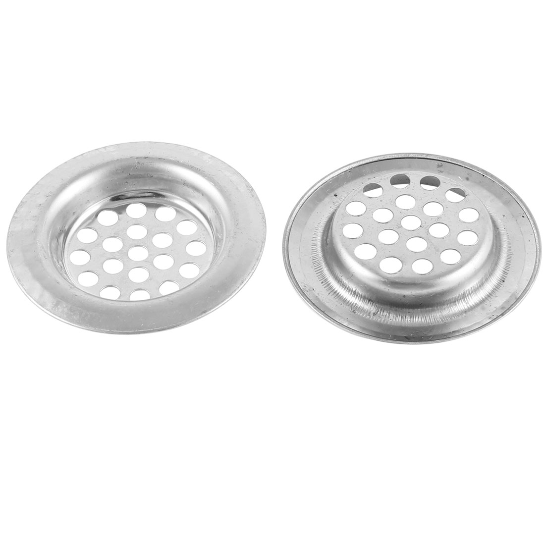 "2 Pcs Kitchen Round Metal 3"" Diameter Floor Drain Cover Water Leak"