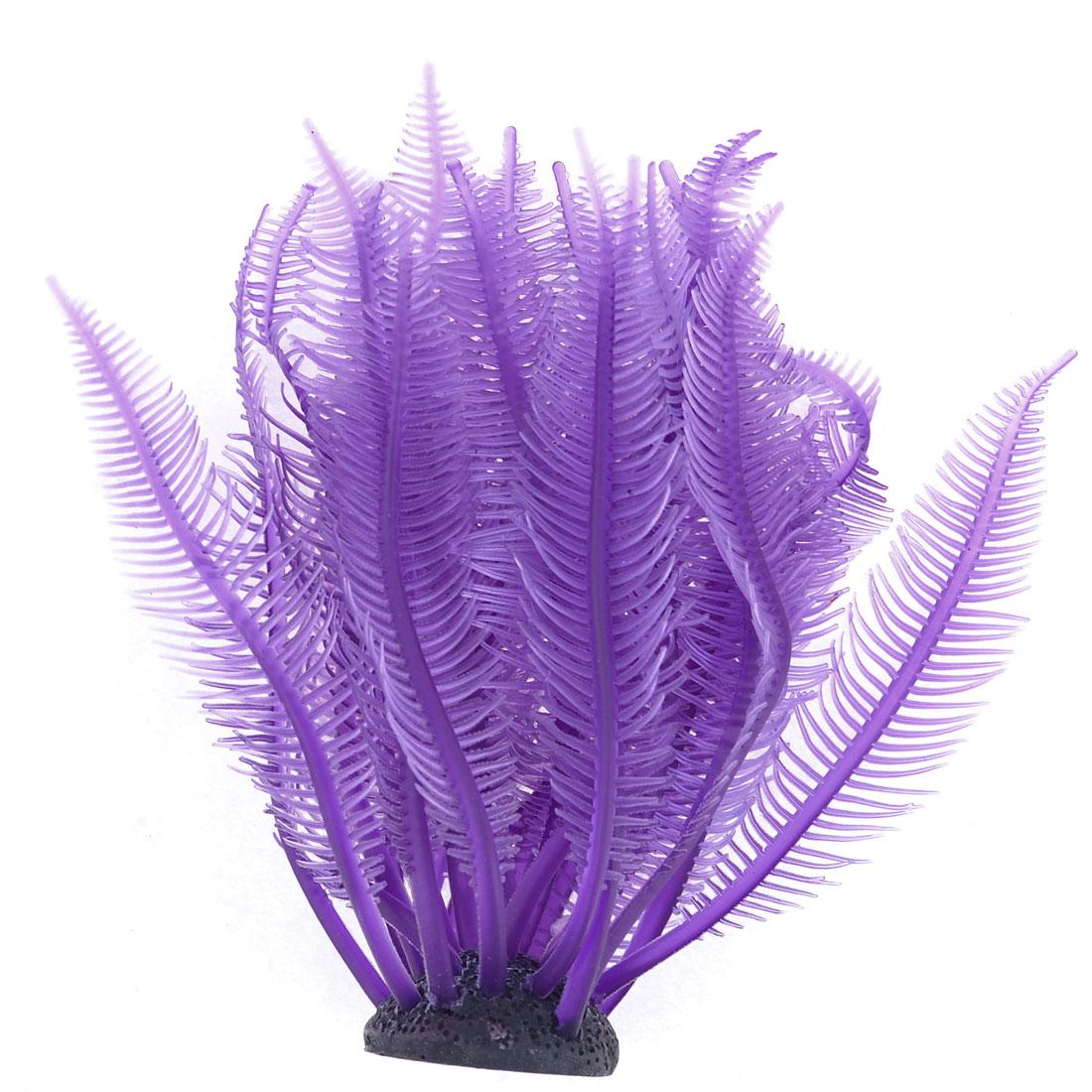 Aquarium Plants Fish Tank Soft Plastic Purple Sea Anemone