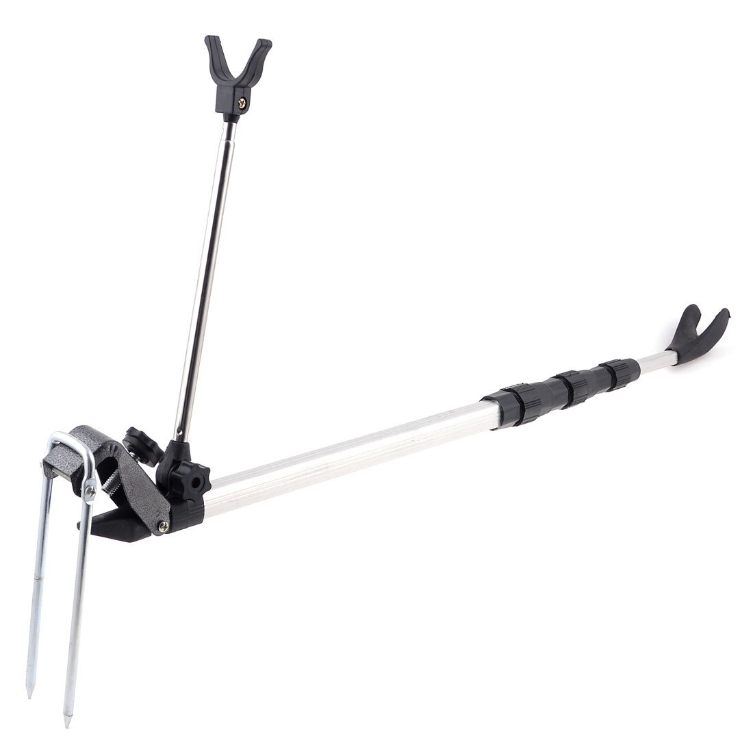 Telescoping 4 Sections Holder Stand Bracket 1.5M 4.9 Ft for Fishing Rod