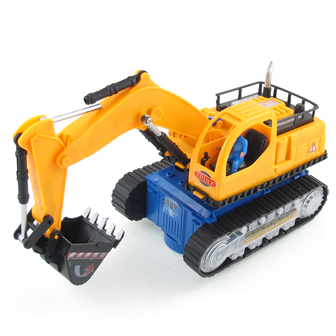 Black Light Orange Plastic Excavator Truck Toy for Kids