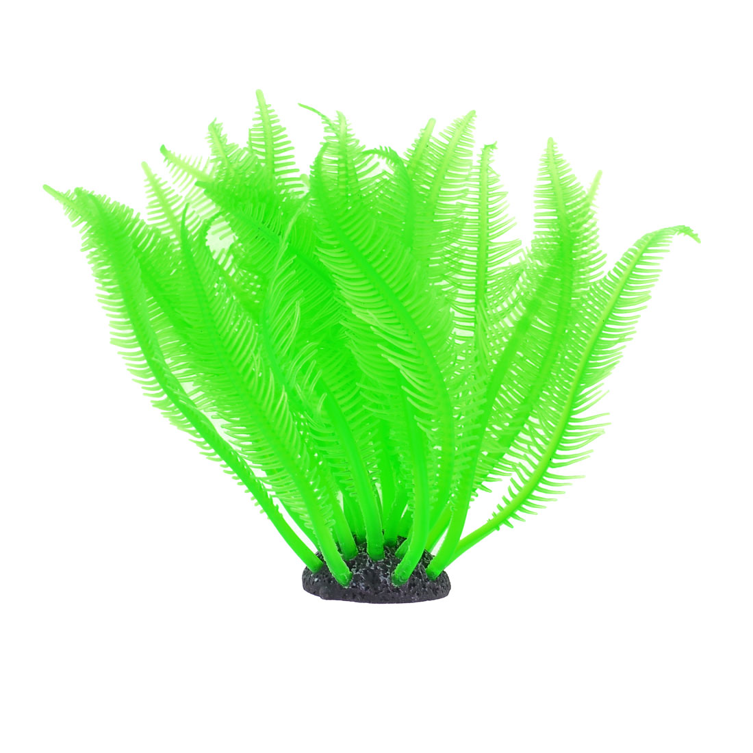 Aquarium Plants Fish Tank Soft Plastic Green Sea Anemone