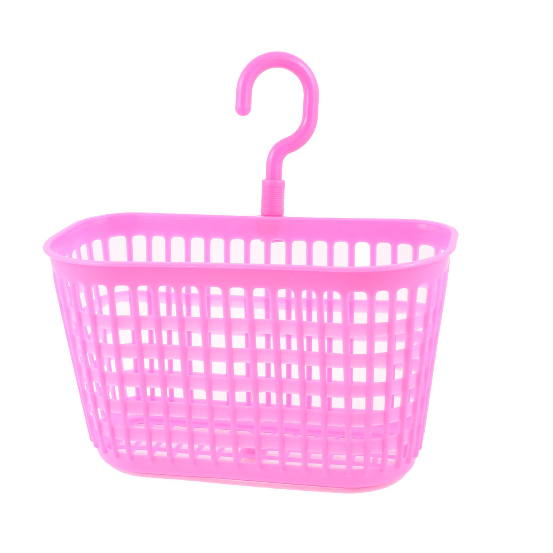 Household Hollow Out Rose Pink Plastic Multifunction Basket Storage Holder