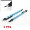 2 Pcs Light Blue Black Plastic Propelling Pencil for