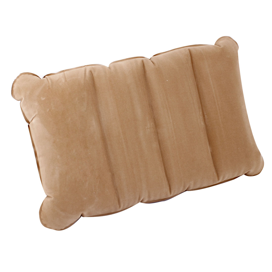 Beige Flannel Inflatable Waist Massage Cushion Cushion Pad Mat