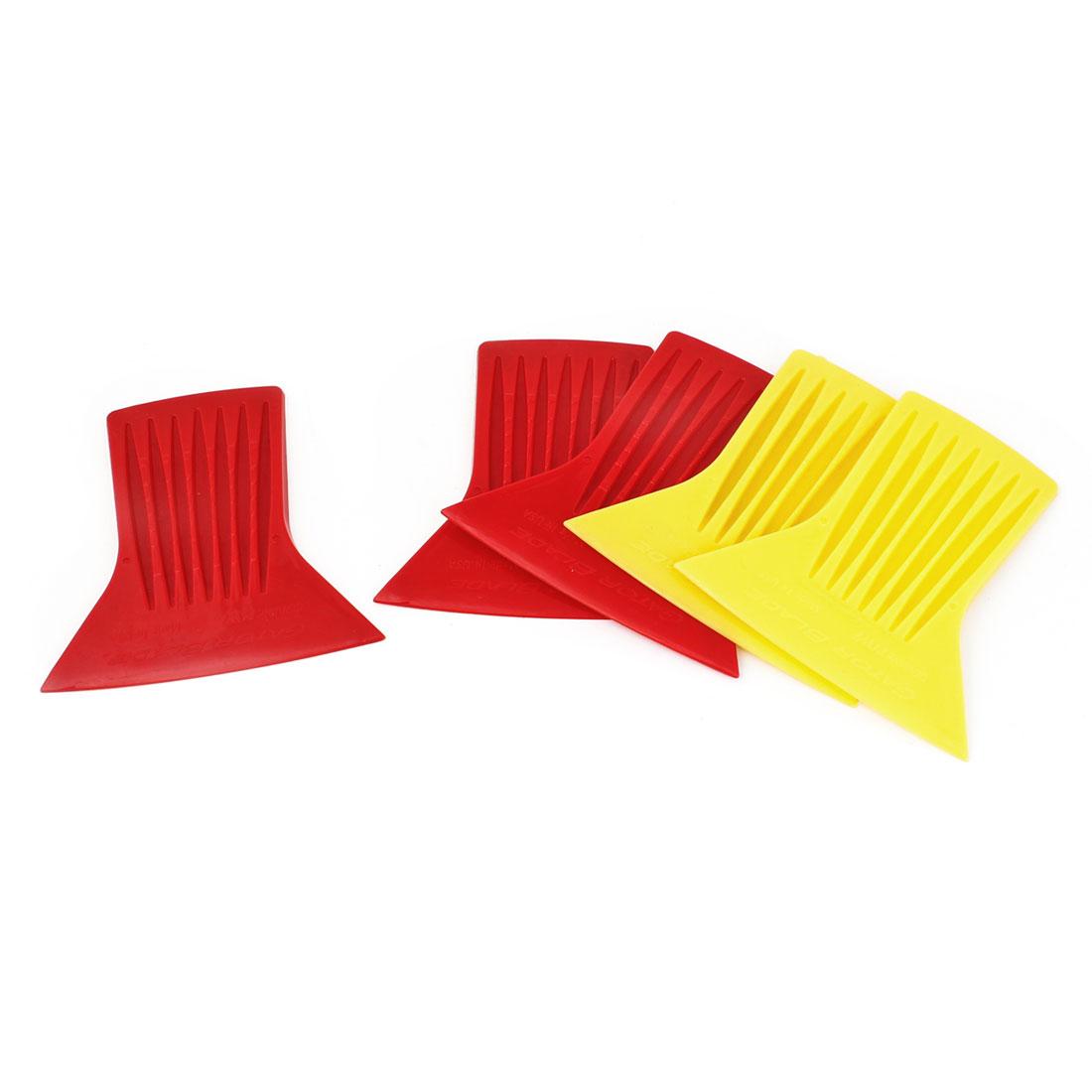 5PCS 8.7CM Long Yellow Red Plastic Scraper Blade Clean Toolfor Car