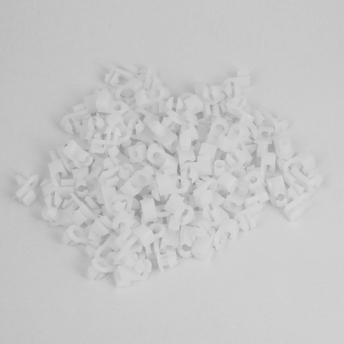 100pcs Car 7.5mm x 5mm Hole Plastic Push Rivet Fairing Panel Fixings Clips White