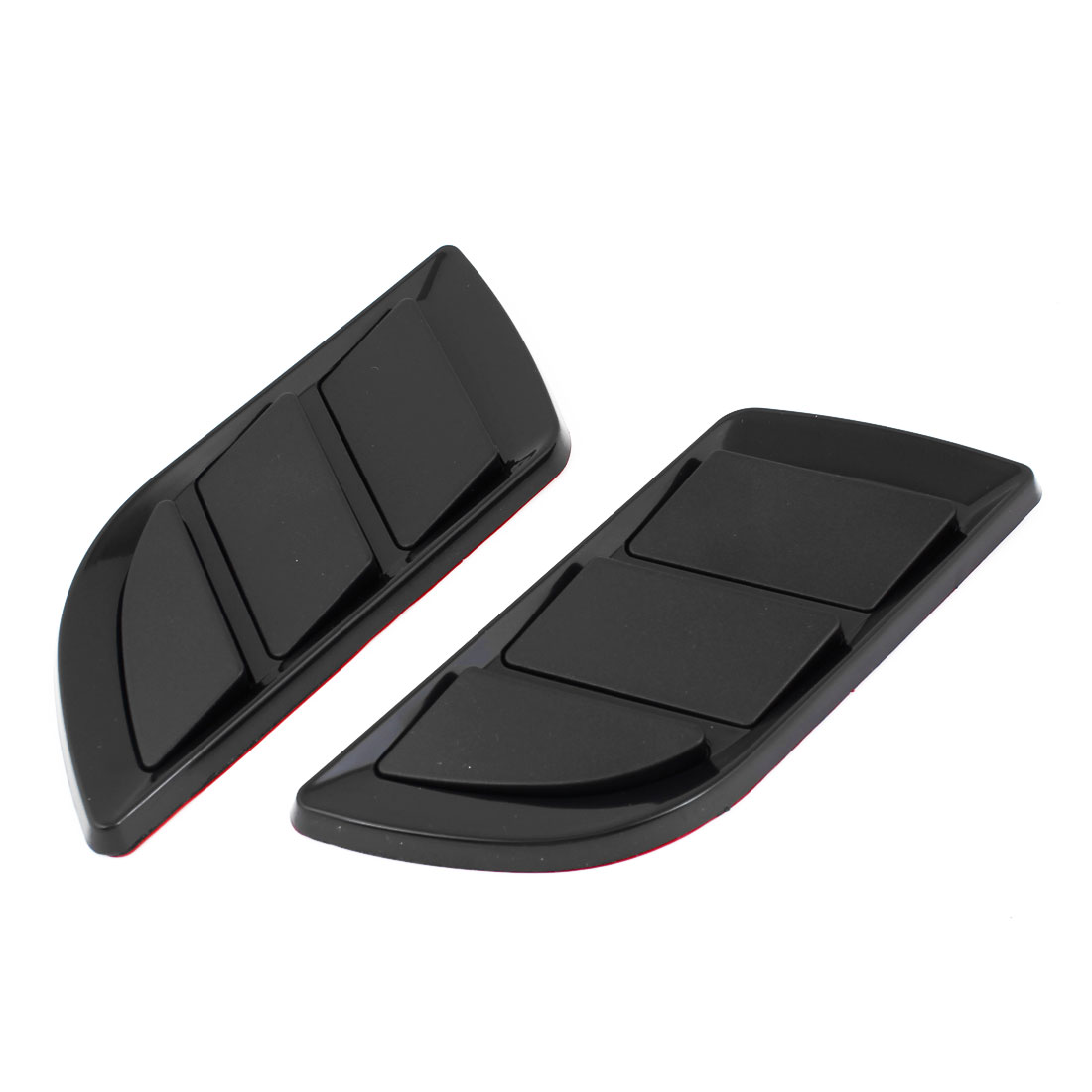Black Plastic Air Flow Fender Sticker 2 Pcs for Car Auto