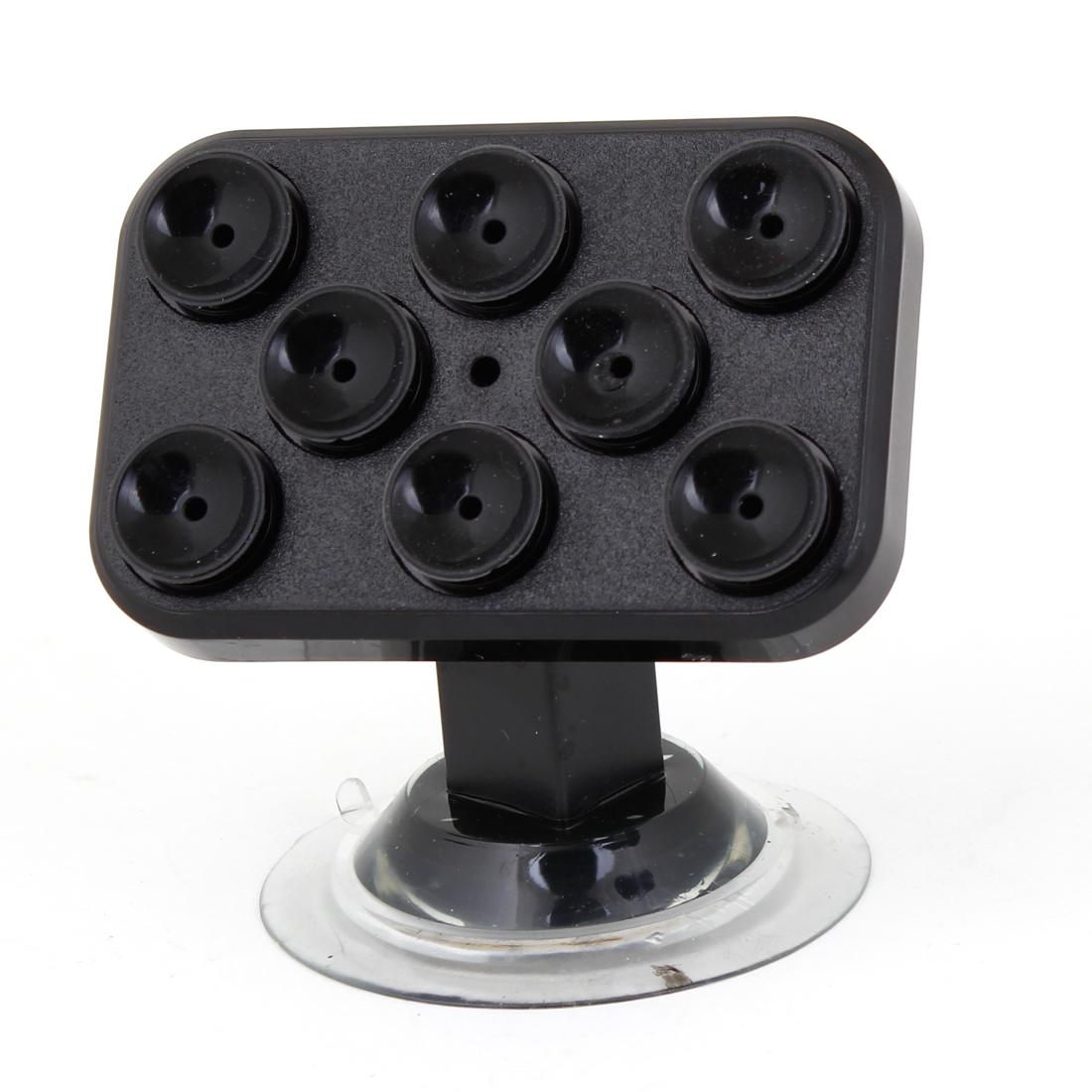 Vehicle Car Plastic 360 Degrees Rotation GPS Holder Sucker Supporter Black