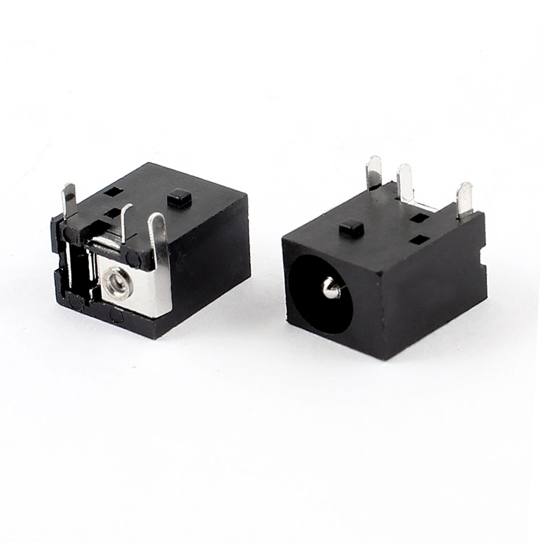 2 Pcs 3 Pin 2.1 x 5.5mm Stereo Jacks Socket Audio Connectors PCB Mount