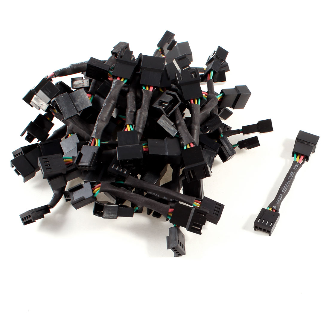 50 Pcs 4 Pin PWM Connector Computer Case Fan Power Extension Adapter Cable
