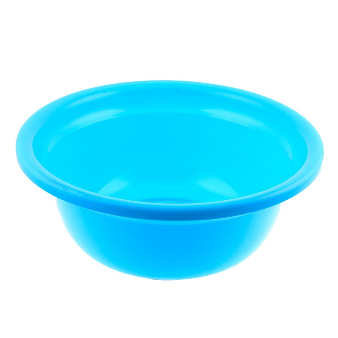 "Family Kitchen Blue Round Plastic Anti Slip Washing up Bowl 12.2"" Dia"