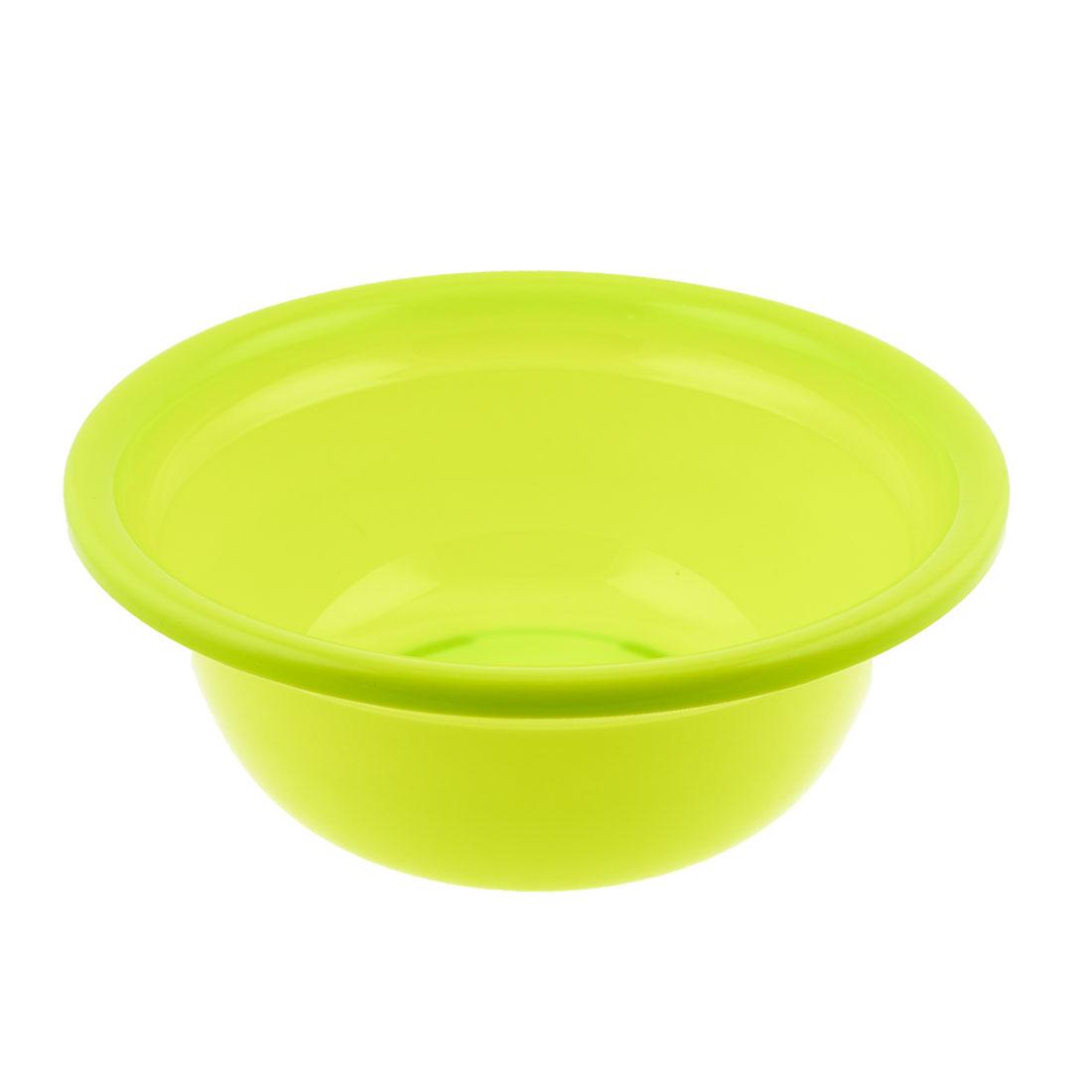 "Family Kitchen Yellow Green Round Plastic Anti Slip Washing up Bowl 12.2"" Dia"