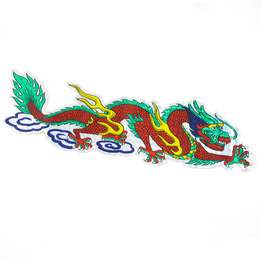 Car Auto Colorful Dragon Design Plastic Sticker Badge Decal