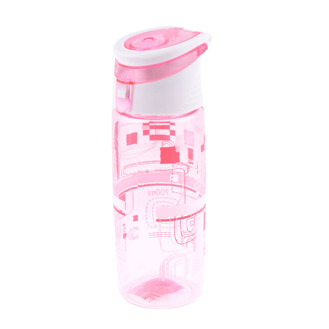 700ml Plastic Clear Pink White Strainer Design Sports Drinking Water Bottle