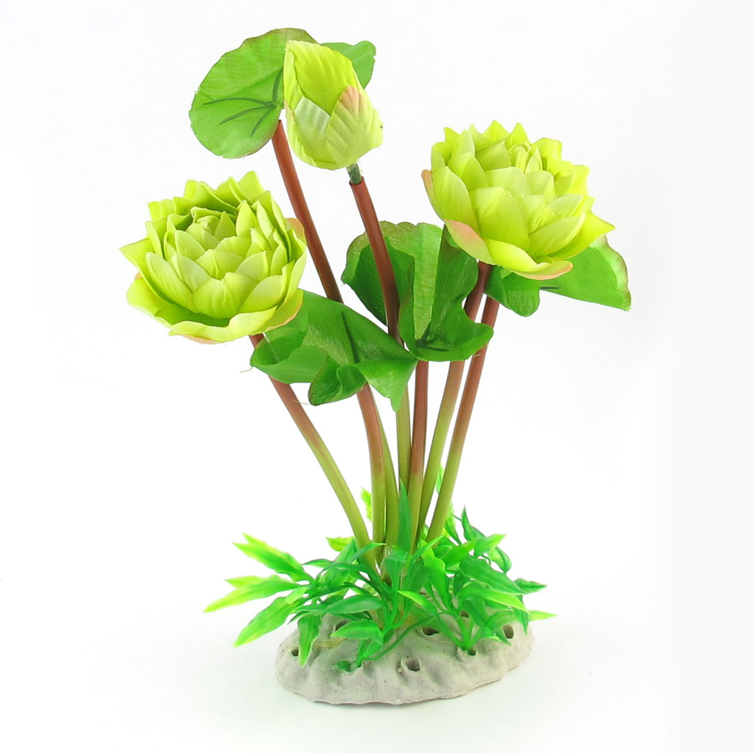 "9.4"" High Yellow Green Simulation Aquarium Underwater Plant Flower Ornament"