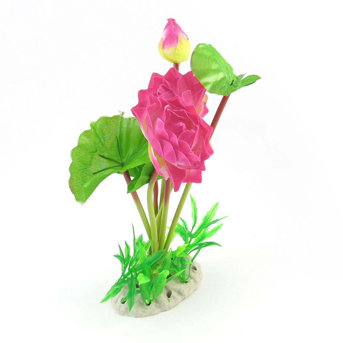 "9.8"" High Green Pink Simulation Aquarium Underwater Plant Flower Ornament"