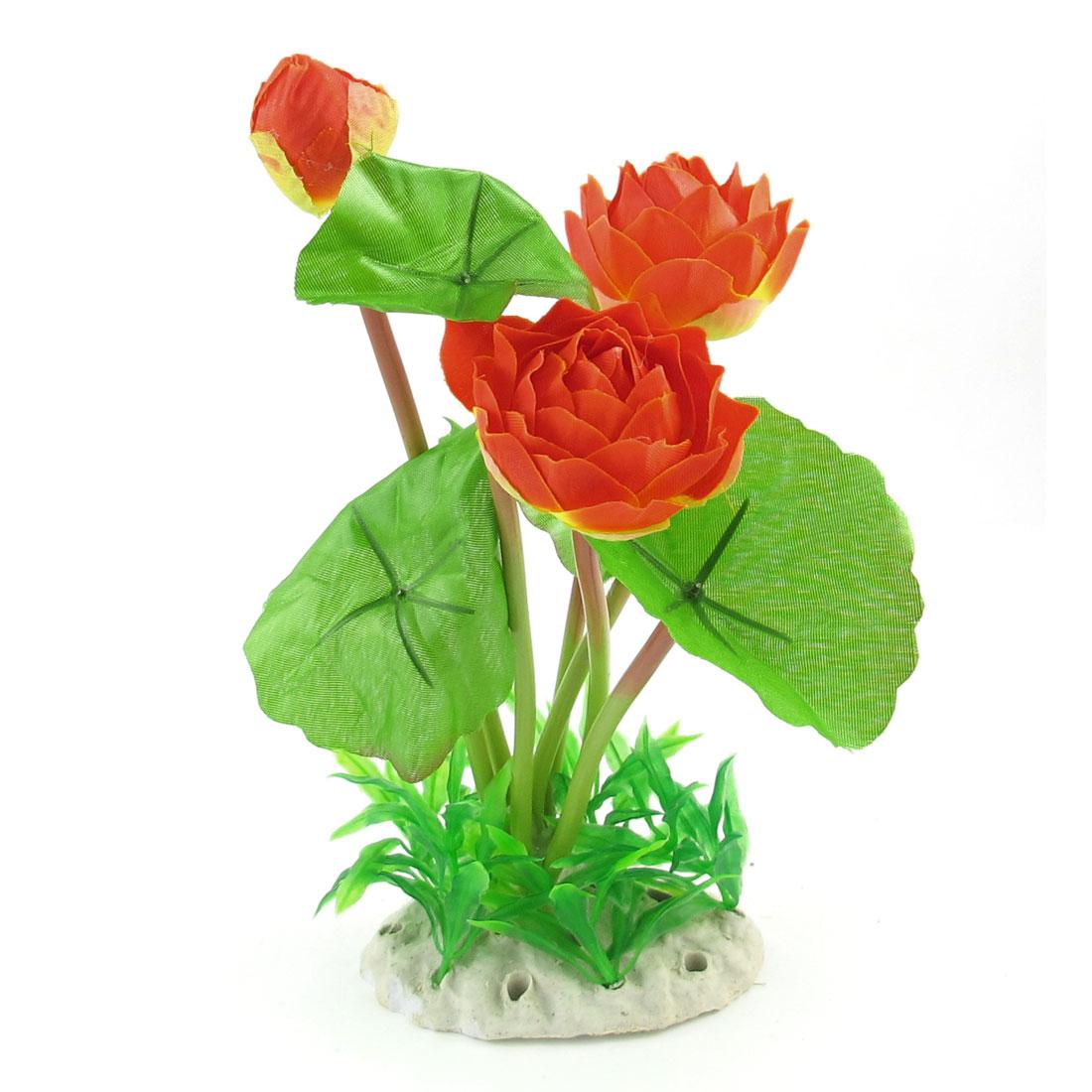 """10.2"""" High Green Orange Simulation Aquarium Underwater Plant Flower Ornament"""