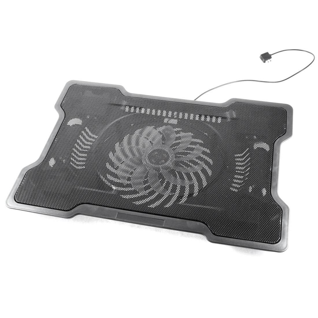 Laptop Notebook DC 5V Built-in Silent Cooling Fan USB Cooler Pad Black