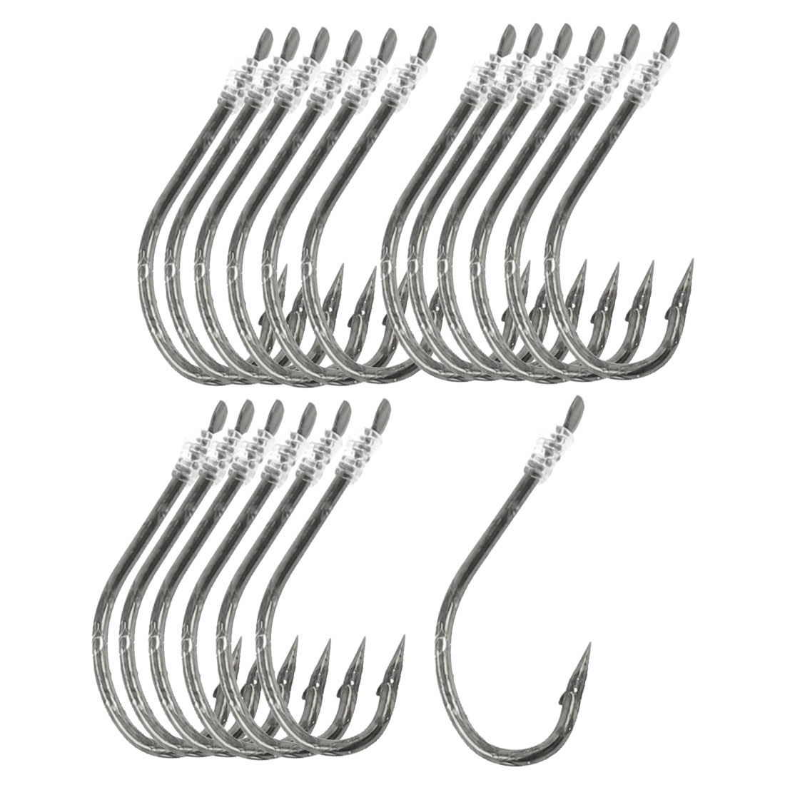 "30 Pcs 20"" Long Fishing Line 20# Darl Gray Metal Fish Hooks"
