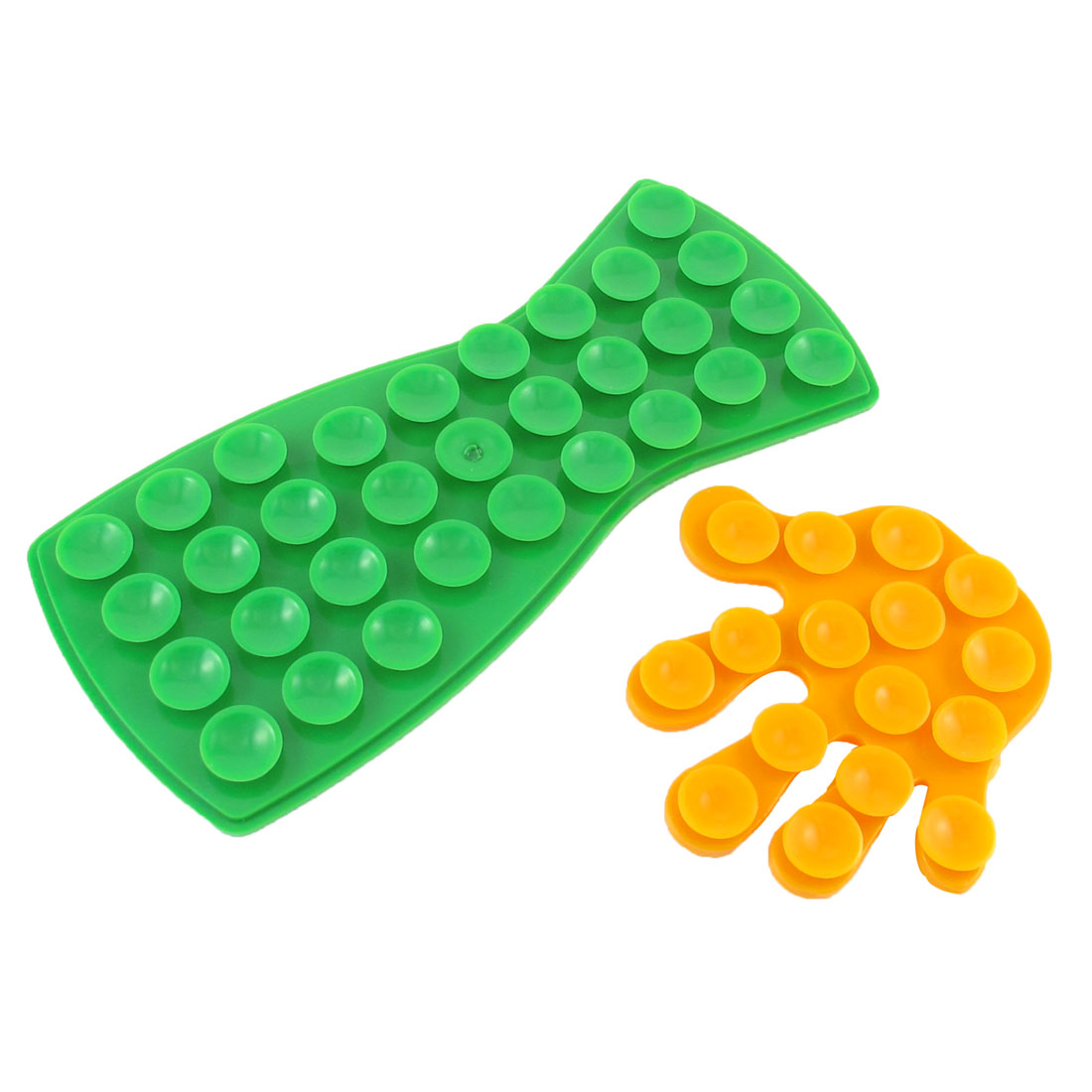 2 in 1 Green Dark Yellow Double Sides Suction Cup Pad Sticker