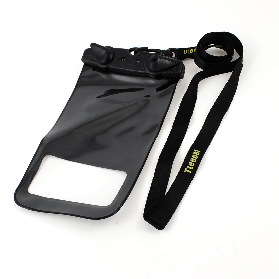 Water Resistance Pouch Bag Black w Adjustable Wriststrap for Camera Phone