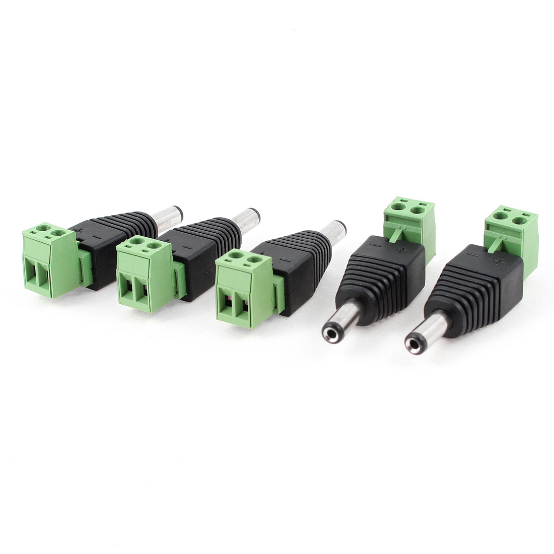 5 PCS Male 2.1x5.5mm DC Power Jack Adapter Plug Connector CCTV