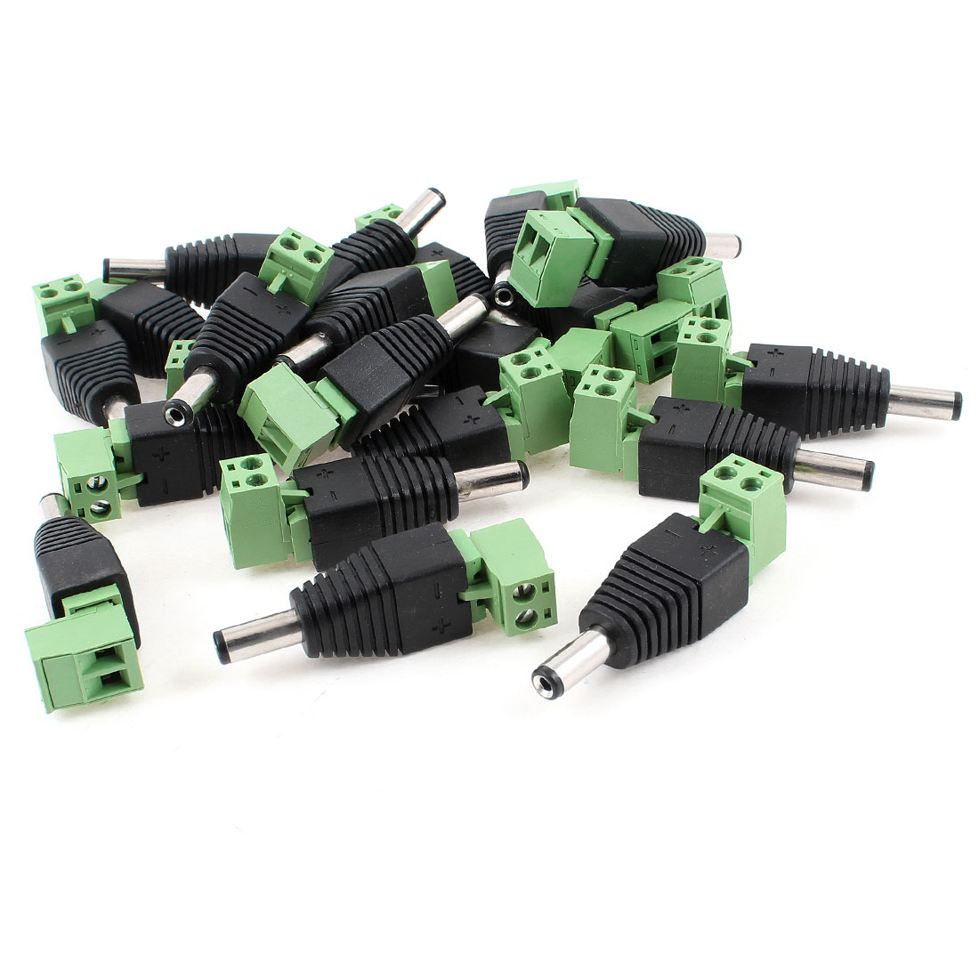 20 x Male 2.1x5.5mm 2.1mm DC Power Jack Adapter Plug Connector CCTV