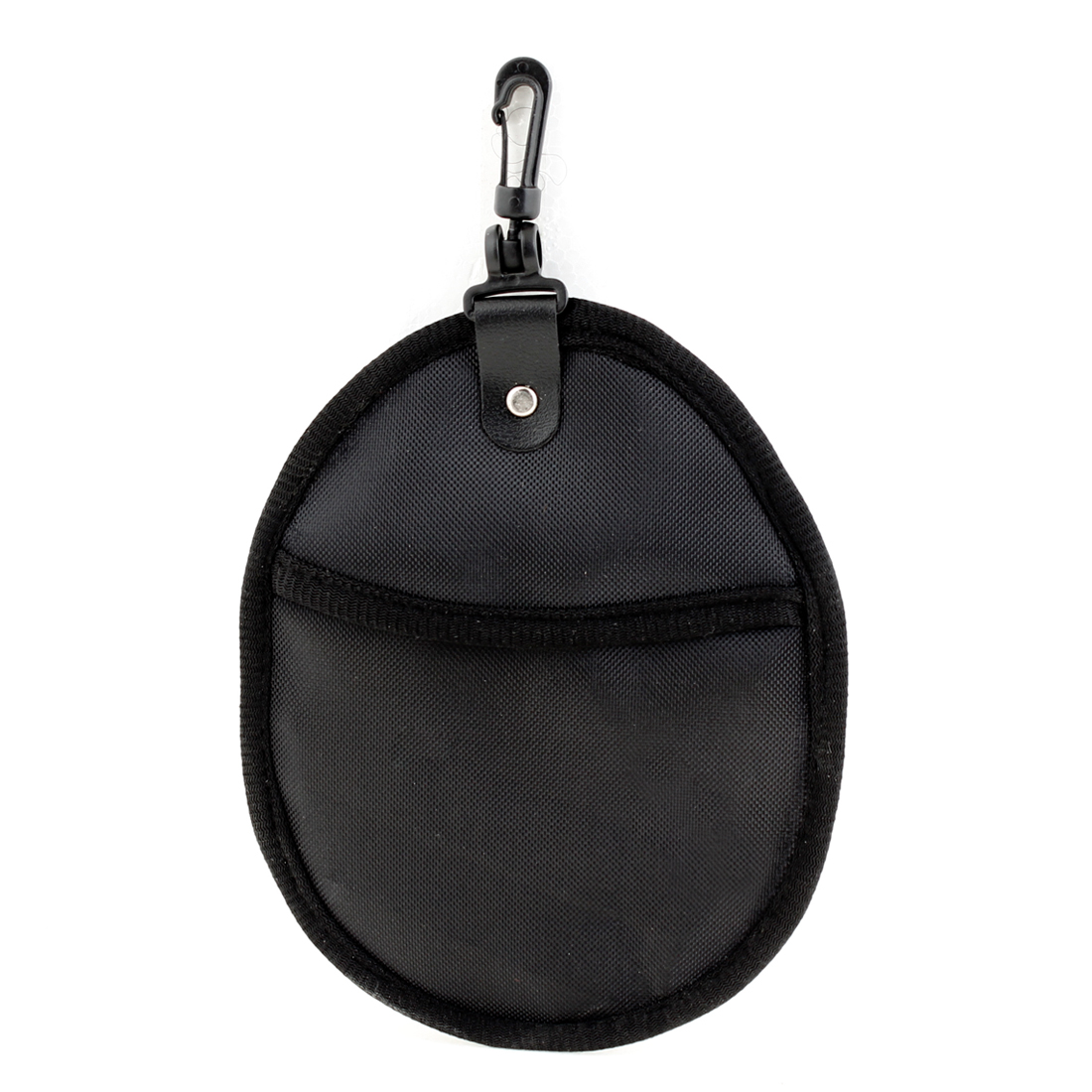Travel Oval Shape 2 Pockets Filter Nylon Camera Lens Pouch Bag w Hook
