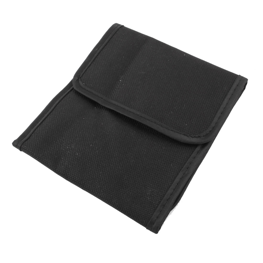 Black Foldable 3 Pockets Filter Lens Case Holder Pouch Bag for Camera
