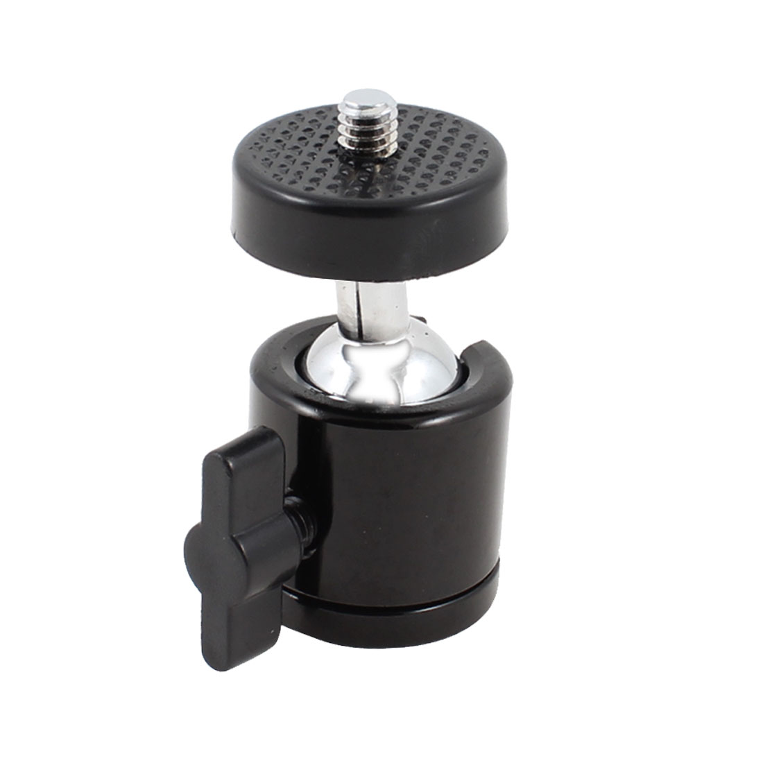 60mm High 360 Degrees Rotation Black Plastic Hot Shoe Mount Holder Bracket