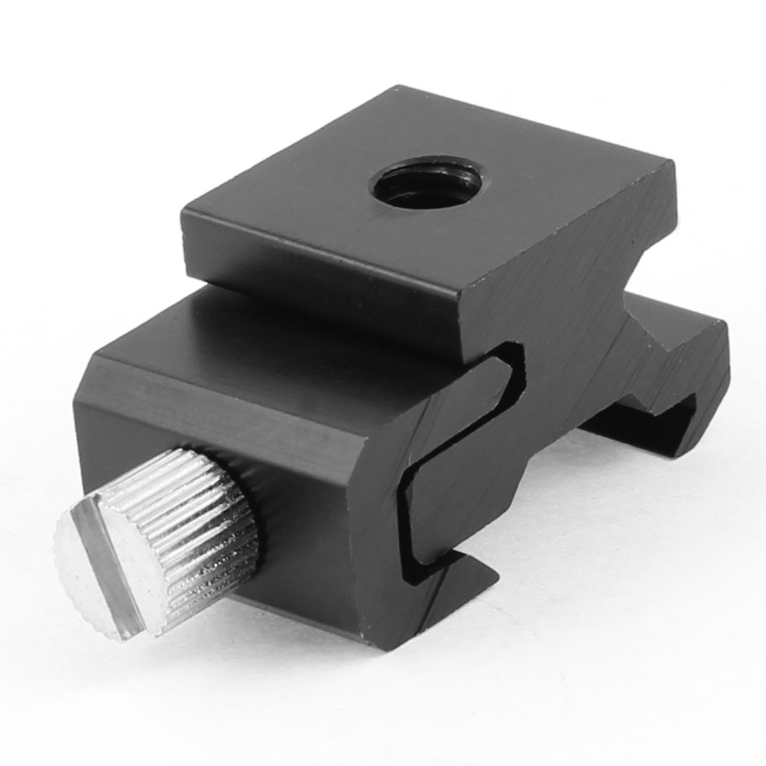 "Black Aluminum Alloy 1/4"" Mount Hot Shoe Seat Flash Light Stand Adapter"
