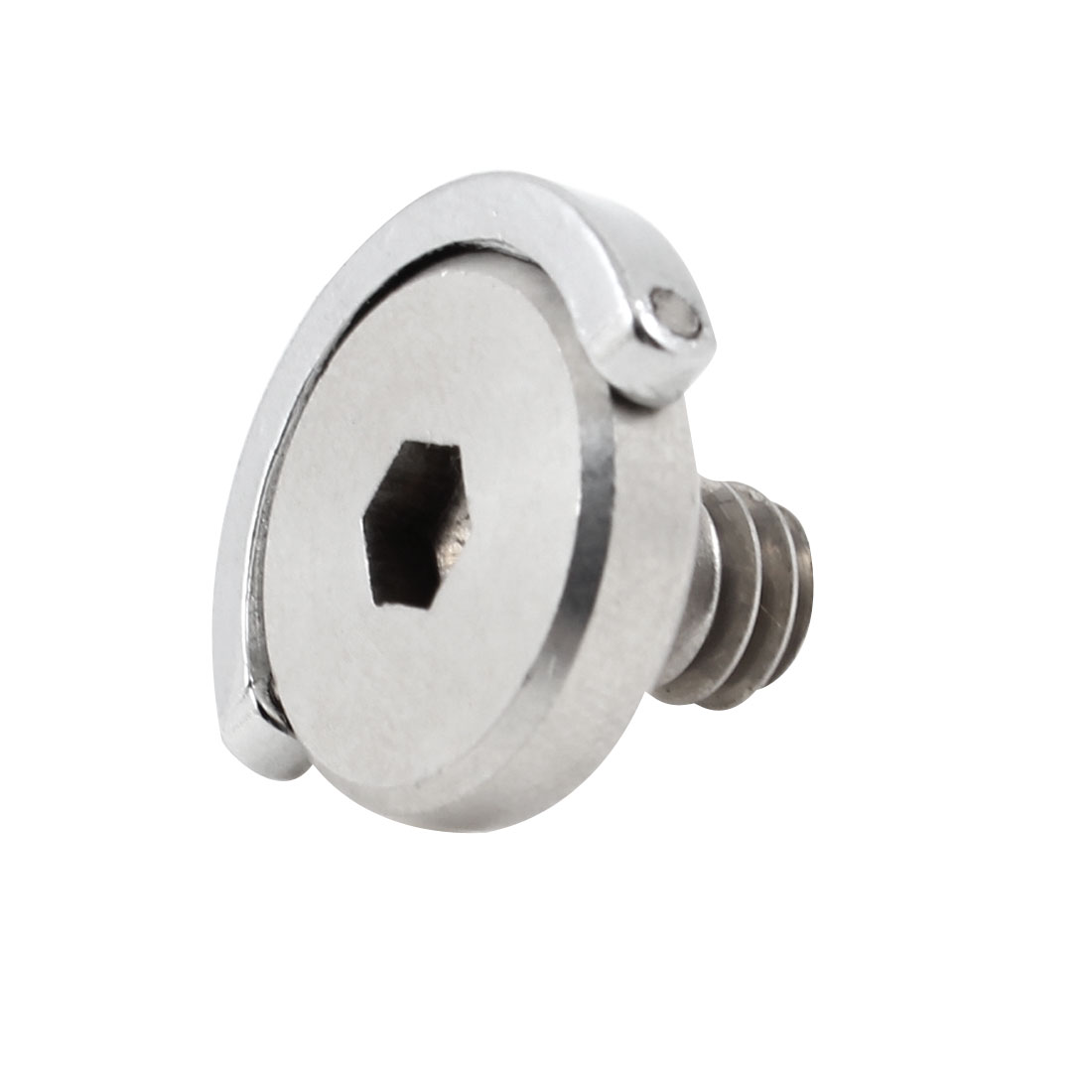 "1/4"" Silver Tone Stainless Steel D-ring Tripod QR Plate Camera Screw"