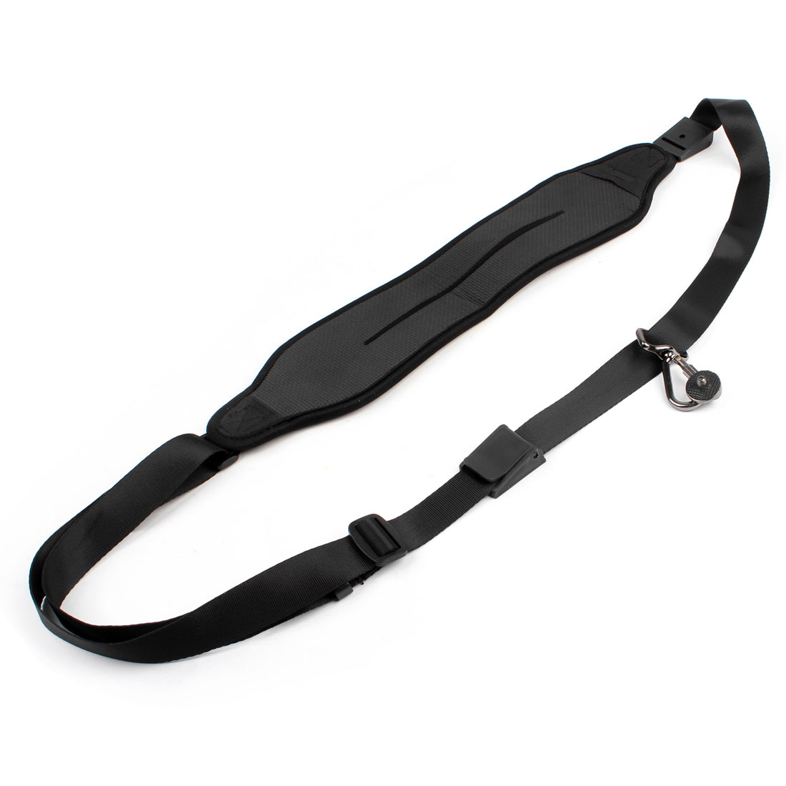 Gray Black Water Resistant Shoulder Strap w Metal Hook for Camera