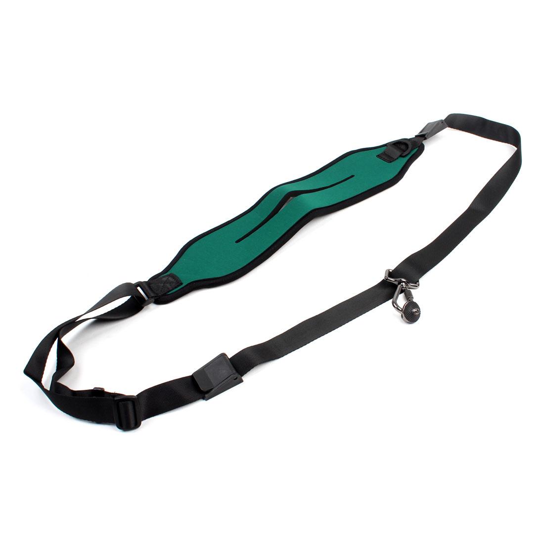 Green Black Adjustable Water Resistant Strap w Hook for DV Camera
