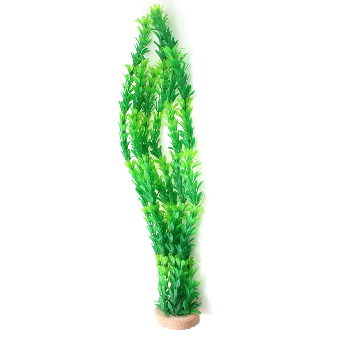 """20.1"""" Height Green Grass Plastic Aquatic Plant for Aquarium"""