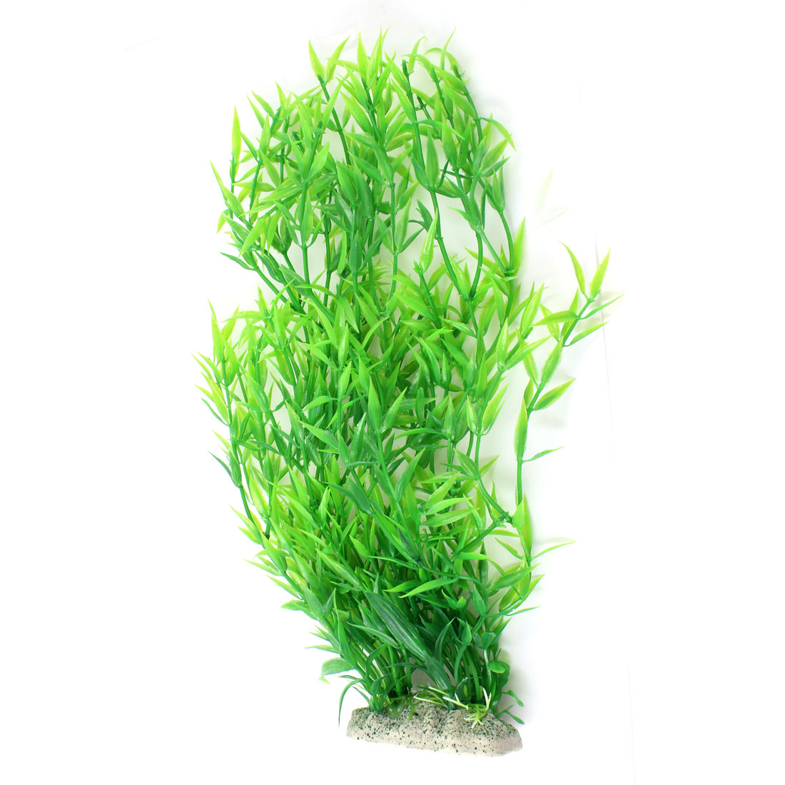 "13"" Height Green Plastic Underwater Grass Ornament for Fish Tank"