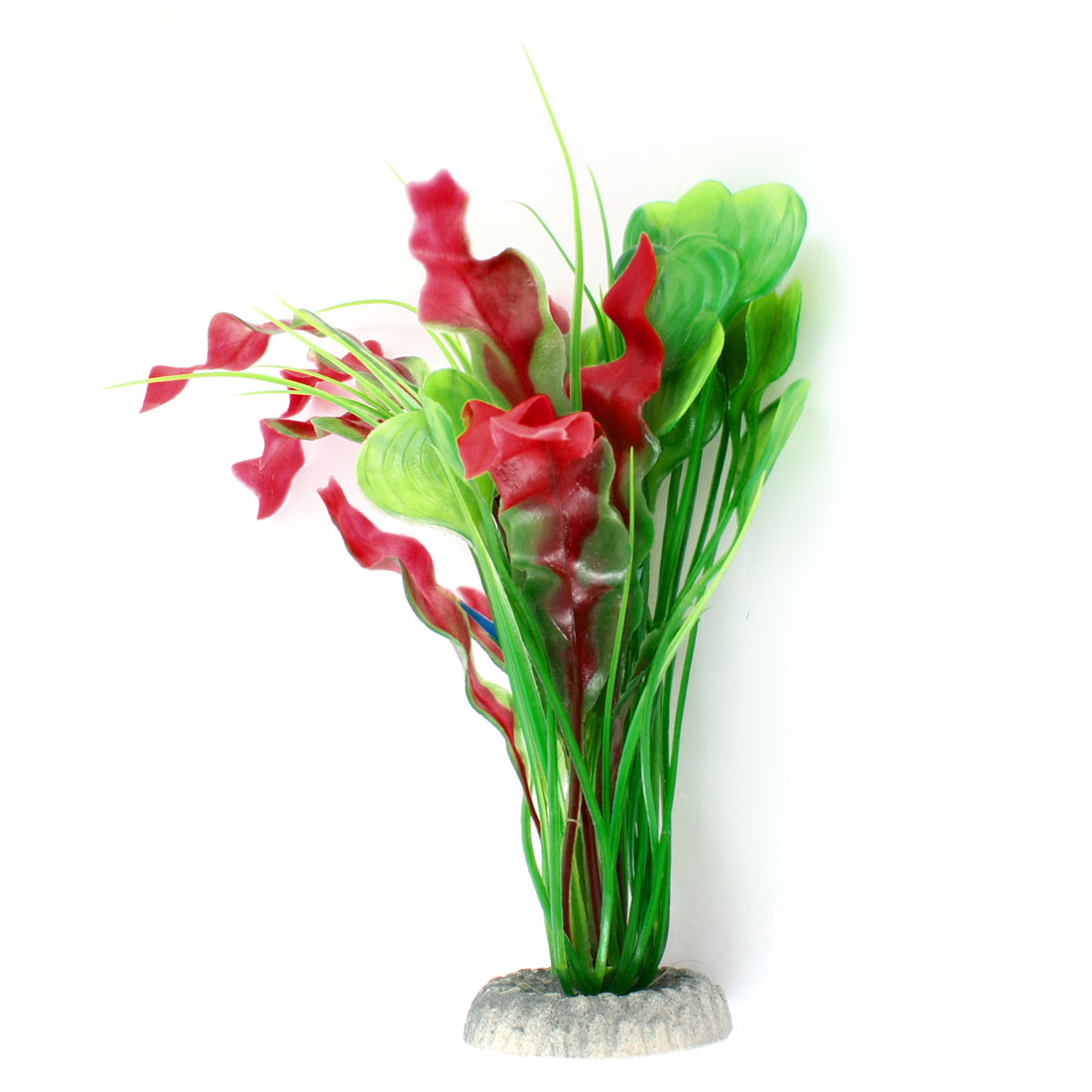"10.4"" Height Carmine Green Artificial Underwater Plant for Fish Tank"